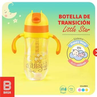 Con nuestra NUEVA botella de transición Little Star y su sistema Happy Meal, tu bebé estará libre de cólicos para que pueda descansar tranquilo después de alimentarse. 💝🤱🏻👶🏻#BuenosConBdeBASA Capacidades de: 220 mL y 300 mL.