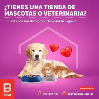 Si cuentas con una tienda de mascotas o veterinaria y quieres vender nuestros productos, comunícate con nosotros al NUEVO número 📲 968 278 497 y al correo 📩 jnova@basa.com.pe #BuenosConBdeBASA
