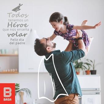 Todos tenemos a un héroe en casa que nos enseña a volar y ser mejores día a día. ¡Feliz día del padre! 👶👨🧔👨🦳👴💝 #BuenosConBdeBASA