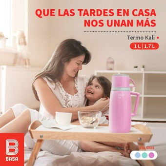 Con nuestro NUEVO termo Kali hagamos que nuestras tardes nos unan más. 💝 Ecuéntralo en 2 capacidades de 1L y 1.7L #BuenosConBdeBASA