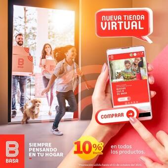 ¡Aprovecha nuestro 10% de descuento en todos nuestros productos de nuestra tienda virtual BASA! 🏪📲 *Promoción válida hasta el 01 de octubre del 2021. Ingresa a: https://basa.com.pe/